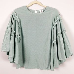 Anthropologie DRA Los Angeles bell sleeve top